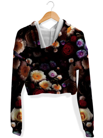Yantrart Design - Daylight Bloom Fleece Crop Hoodie