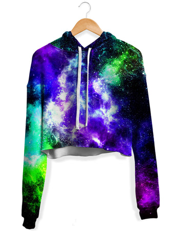 Yantrart Design - Kryptonite Flow Fleece Crop Hoodie