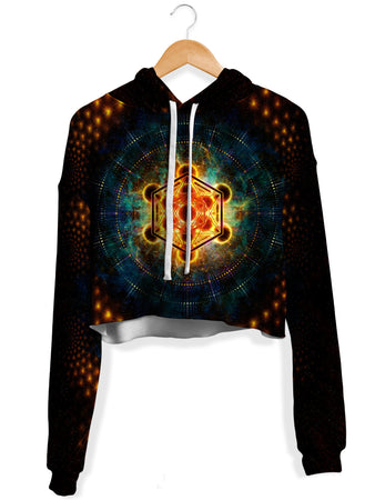 Yantrart Design - Metacosmos Enlightenment Fleece Crop Hoodie