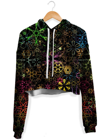Yantrart Design - Psy Constellation Fleece Crop Hoodie