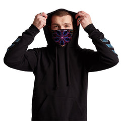 Man Trip Anti-Germ & Pollution Mask With (4) PM 2.5 Carbon Filters, Germ Mask, Electric Styles - Epic Hoodie