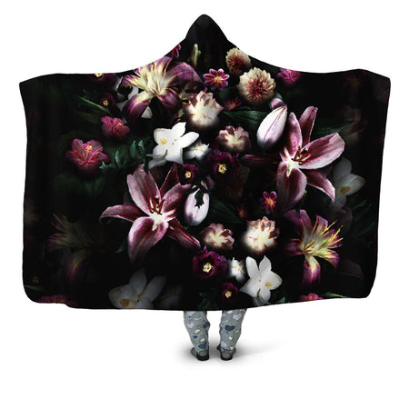 Yantrart Design - Blooming Teal Hooded Blanket