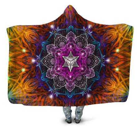 Yantrart Design - Geometric Vibes Hooded Blanket