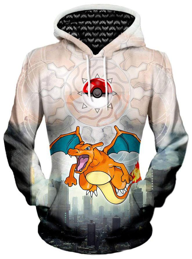 Charizard Unisex Hoodie, Different Type, Gratefully Dyed Damen - Epic Hoodie