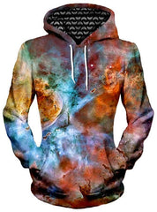 Abstracted Nebula Unisex Hoodie, Different Type, Gratefully Dyed Damen - Epic Hoodie
