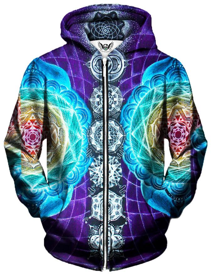 Attuned Unisex Zip-Up Hoodie, Different Type, Gratefully Dyed Damen - Epic Hoodie