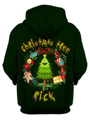 Christmas Tree Rick Unisex Zip-Up Hoodie, Gratefully Dyed Damen, T6 - Epic Hoodie