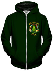 Christmas Tree Rick Unisex Zip-Up Hoodie