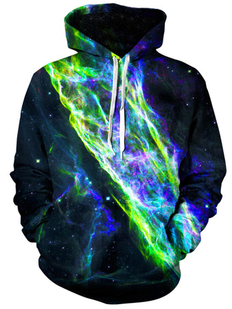 Gratefully Dyed Damen - Electric Wave Unisex Hoodie