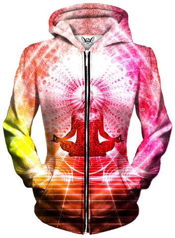 Gratefully Dyed Damen - Enlightened Unisex Zip-Up Hoodie