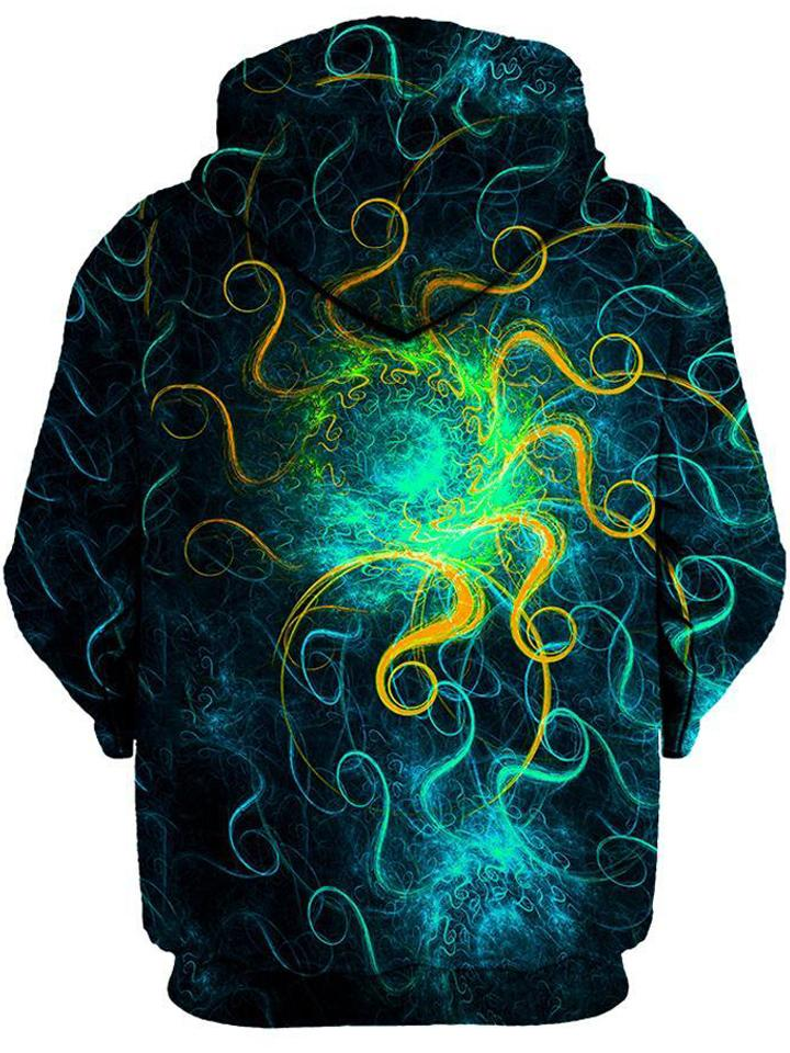 Euphoric Space Unisex Zip-Up Hoodie, Gratefully Dyed Damen, T6 - Epic Hoodie