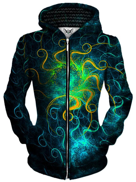 Gratefully Dyed Damen - Euphoric Space Unisex Zip-Up Hoodie