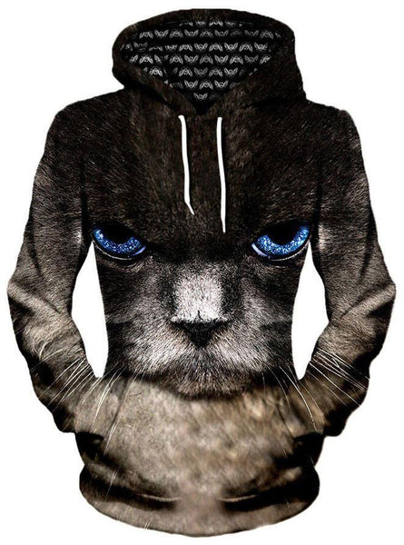 Gratefully Dyed Damen - Eye of the Kitty Unisex Hoodie