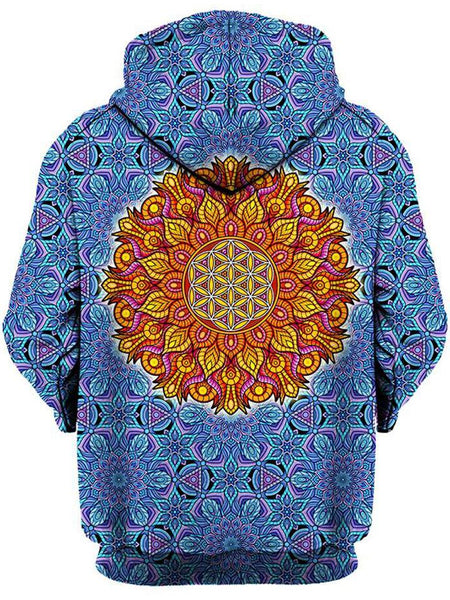 Gratefully Dyed Damen - Flower of Life Unisex Hoodie