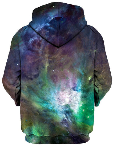 Gratefully Dyed Damen - Galactic Green Galaxy Unisex Hoodie