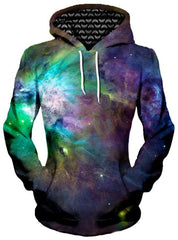 Galactic Green Galaxy Unisex Hoodie, Different Type, Gratefully Dyed Damen - Epic Hoodie