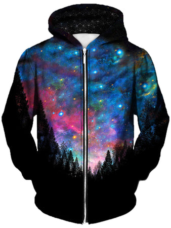 Gratefully Dyed Damen - Galactic Valley Unisex Zip-Up Hoodie