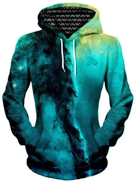 Gratefully Dyed Damen - Geometric Cloud Cluster Unisex Hoodie