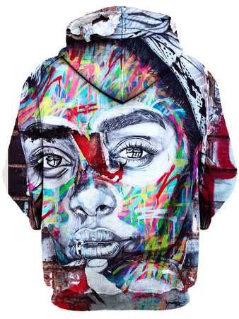 Gratefully Dyed Damen - Graffiti Girl Unisex Hoodie