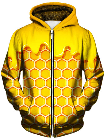 Gratefully Dyed Damen - Honey Unisex Zip-Up Hoodie
