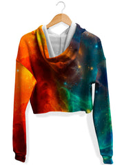 Fire and Ice Galaxy Fleece Crop Hoodie, iEDM, T6 - Epic Hoodie