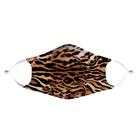 iEDM - Tiger Print Anti-Germ & Pollution Mask With (4) PM 2.5 Carbon Filters