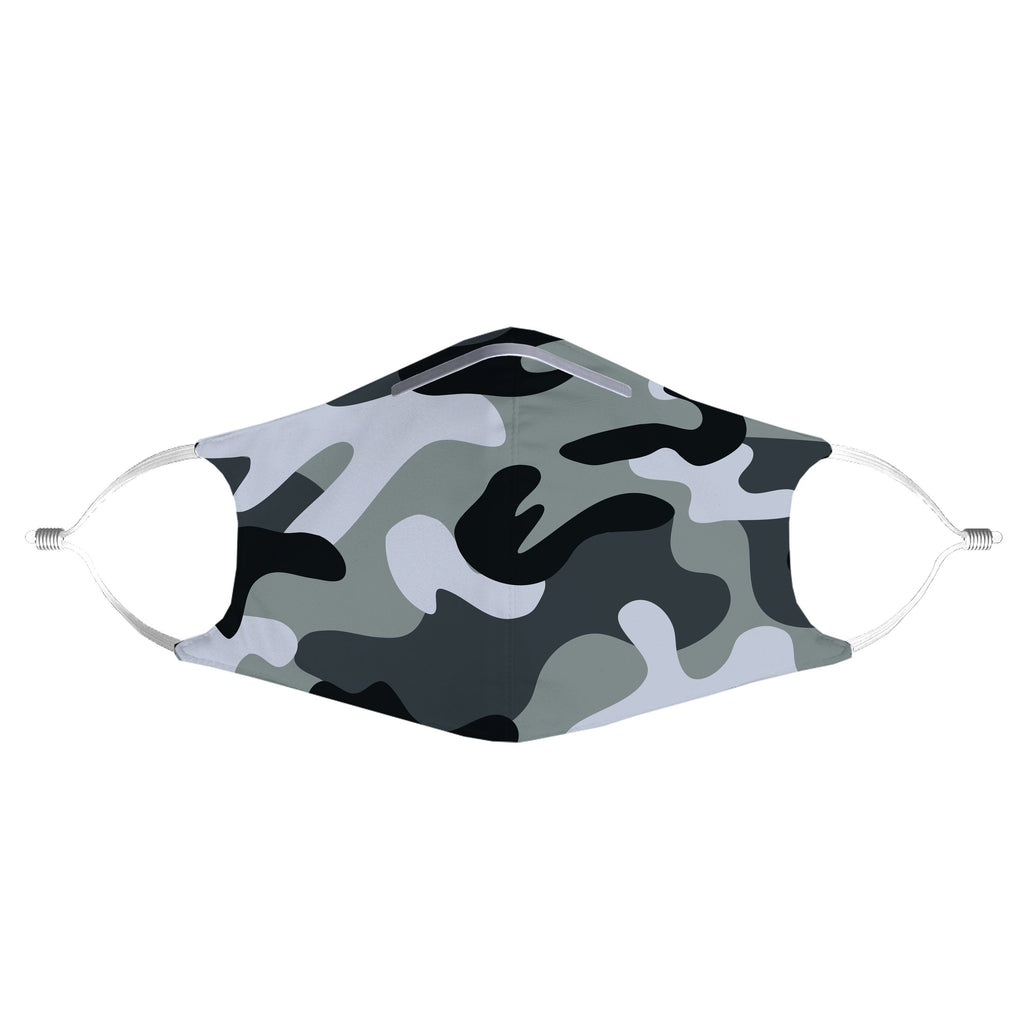 iEDM - Grey Camo Anti-Germ & Pollution Mask With (4) PM 2.5 Carbon Filters