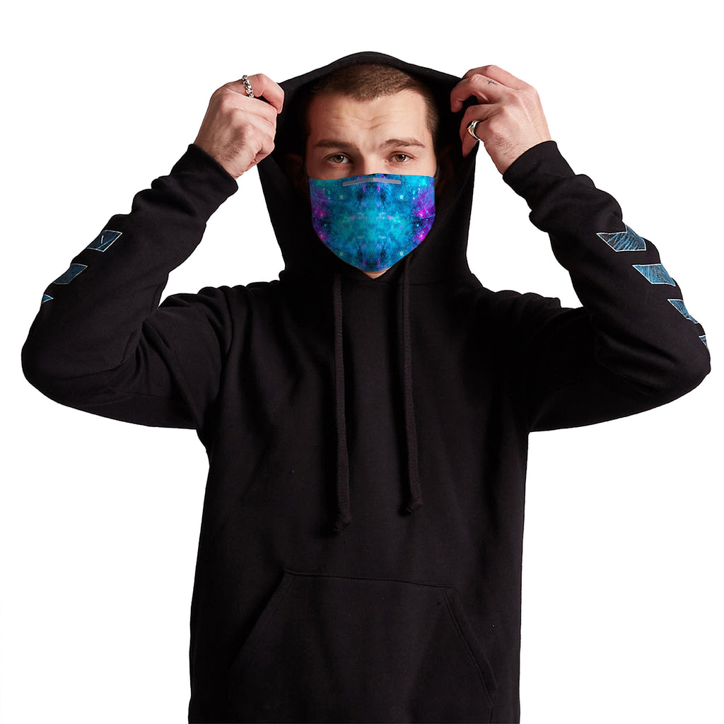 Galactic Spectrum Anti-Germ & Pollution Mask With (4) PM 2.5 Carbon Filters, Germ Mask, Electric Styles - Epic Hoodie