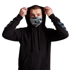 Grey Camo Anti-Germ & Pollution Mask With (4) PM 2.5 Carbon Filters, Germ Mask, Electric Styles - Epic Hoodie