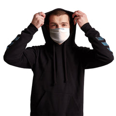 White Anti-Germ & Pollution Mask With (4) PM 2.5 Carbon Filters, Germ Mask, Electric Styles - Epic Hoodie