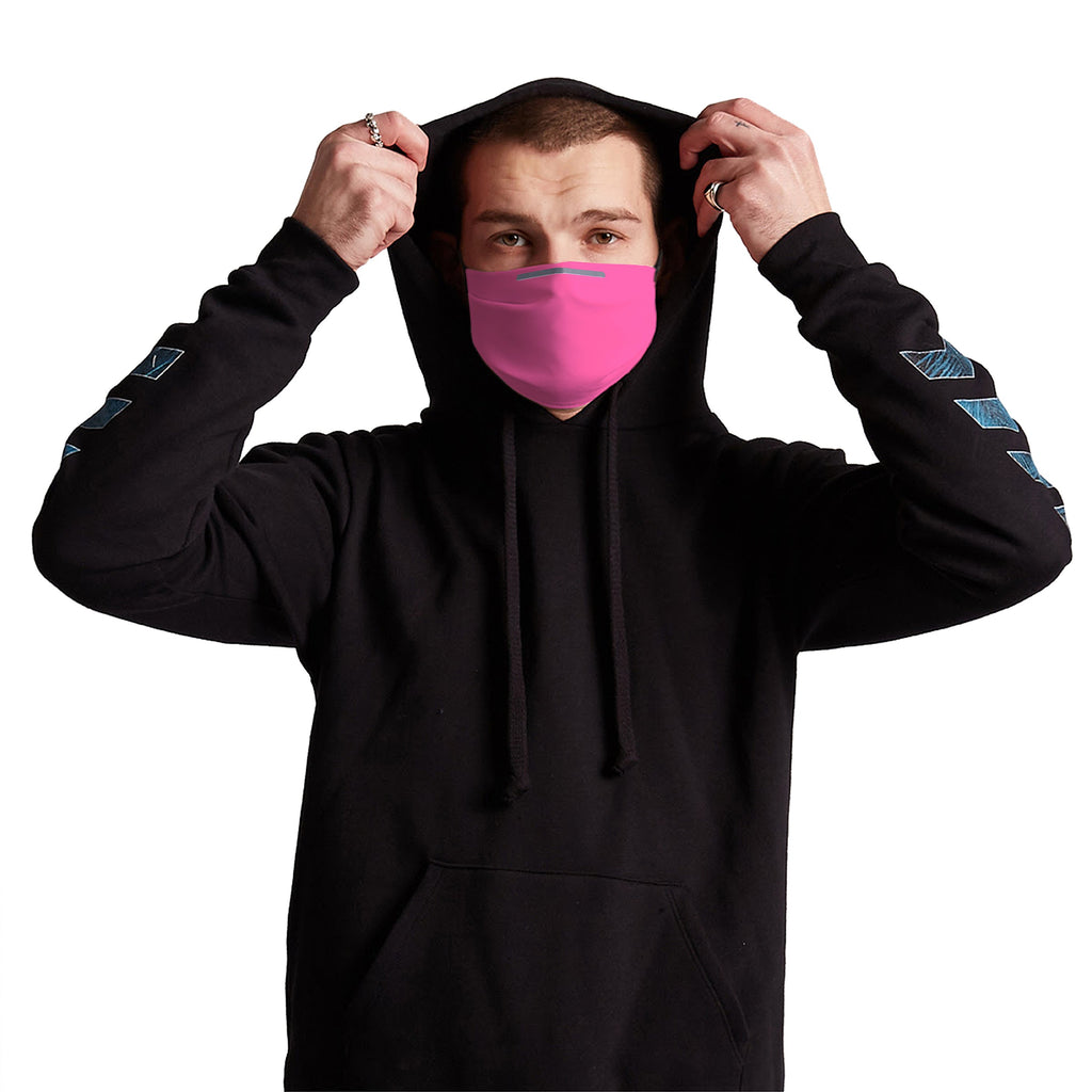 Pink Anti-Germ & Pollution Mask With (4) PM 2.5 Carbon Filters