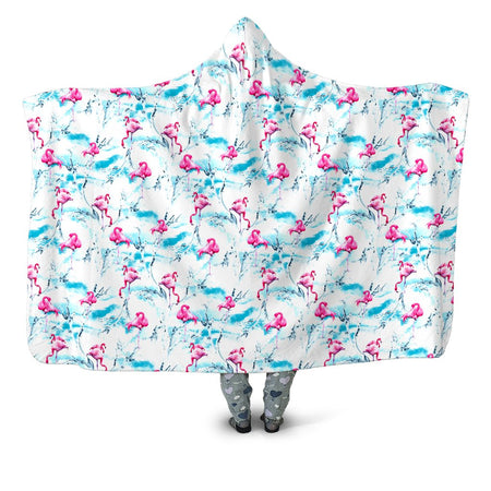 iEDM - Flamingos Hooded Blanket