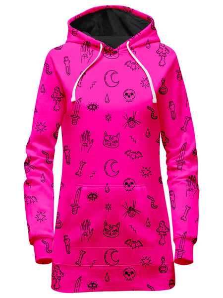 iEDM - Pink Pattern Hoodie Dress
