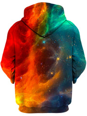 Fire and Ice Galaxy Unisex Zip-Up Hoodie