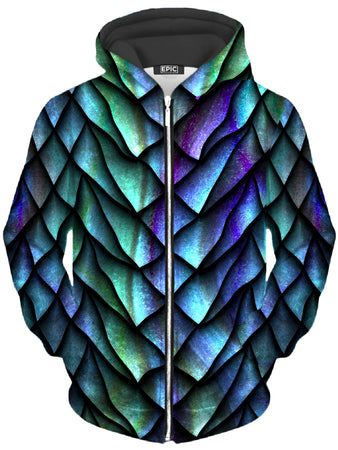 iEDM - Dosed Dragon Scale Unisex Zip-Up Hoodie
