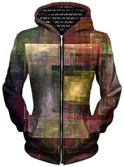 Colorful Impression Unisex Zip-Up Hoodie, Different Type, Gratefully Dyed Damen - Epic Hoodie