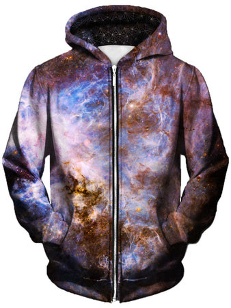 Gratefully Dyed Damen - Interstellar Connection Unisex Zip-Up Hoodie