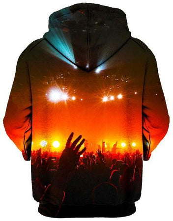 Gratefully Dyed Damen - Into the Crowd Unisex Zip-Up Hoodie