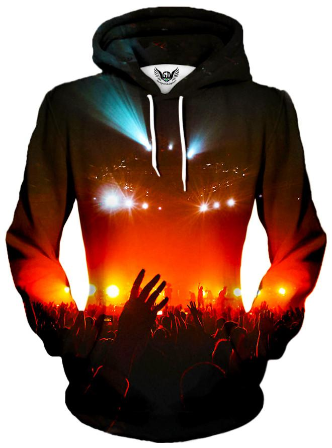Into the Crowd Unisex Hoodie, Different Type, Gratefully Dyed Damen - Epic Hoodie
