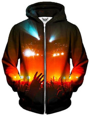 Into the Crowd Unisex Zip-Up Hoodie, Gratefully Dyed Damen, T6 - Epic Hoodie