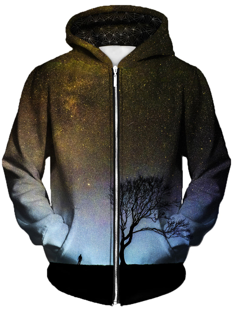 Gratefully Dyed Damen - Landing Unisex Zip-Up Hoodie