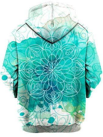 Gratefully Dyed Damen - Mandala Splotches Unisex Hoodie