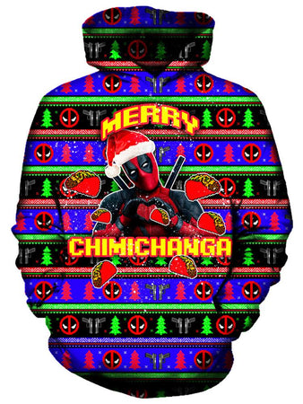 On Cue Apparel - Merry Chimichanga Hoodie