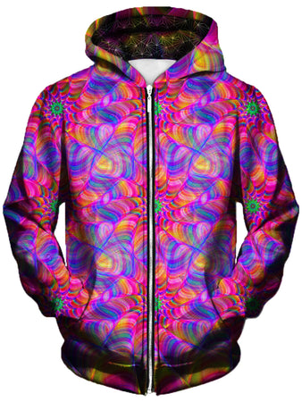 Gratefully Dyed Damen - Mind Blown Unisex Zip-Up Hoodie