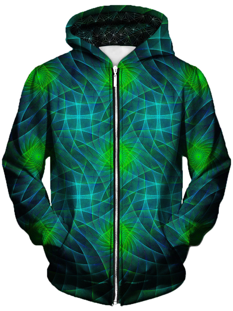 Gratefully Dyed Damen - Motherboard Unisex Zip-Up Hoodie