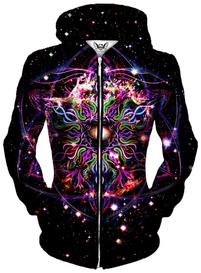 Nebudala Unisex Zip-Up Hoodie, Different Type, Gratefully Dyed Damen - Epic Hoodie
