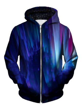 Gratefully Dyed Damen - Northern Lights Unisex Zip-Up Hoodie