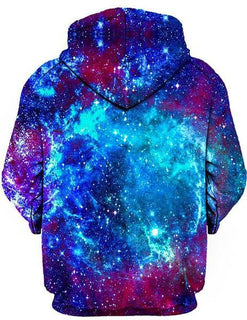 On Cue Apparel - Blue Galaxy Hoodie