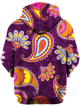 Gratefully Dyed Damen - Purple Paisley Unisex Hoodie