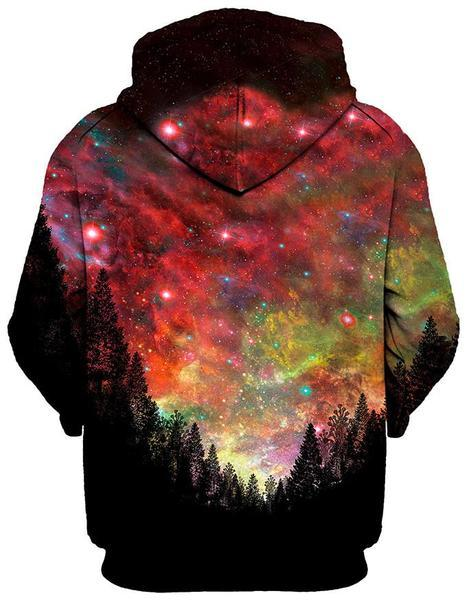 Gratefully Dyed Damen - Rasta Woods Unisex Zip-Up Hoodie